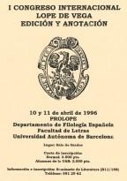 I Congreso Internacional Lope de Vega