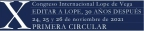 X Congreso Internacional Lope de Vega. Primera circular
