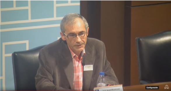 José Javier Rodríguez, en la BNE